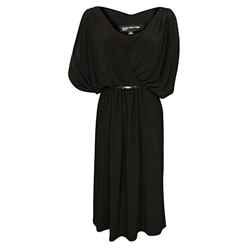 - Jones New York Sleeveless V-Neck Draped Jersey Dress (Black, Size 6)