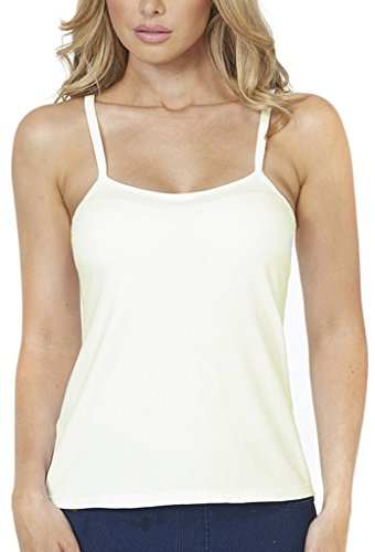 Alessandra B Underwire Smooth Seamless Cup Classic Camisole - M7701 (36D, Ivory) (Cami Underwire)