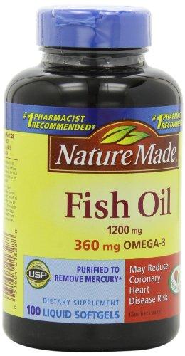 Природа Сделано Рыбий жир Омега-3, 1200 мг, 100 Softgels
