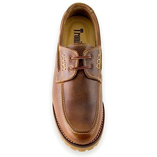 Masaltos Zapatos de Hombre con Alzas Que Aumentan Altura Hasta 7 cm. Fabricados EN Piel. Modelo Adriatico Marron