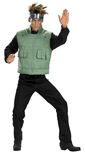 (Disguise Boys Kakashi Deluxe Kids Child Fancy Dress Party Halloween Costume, XL)