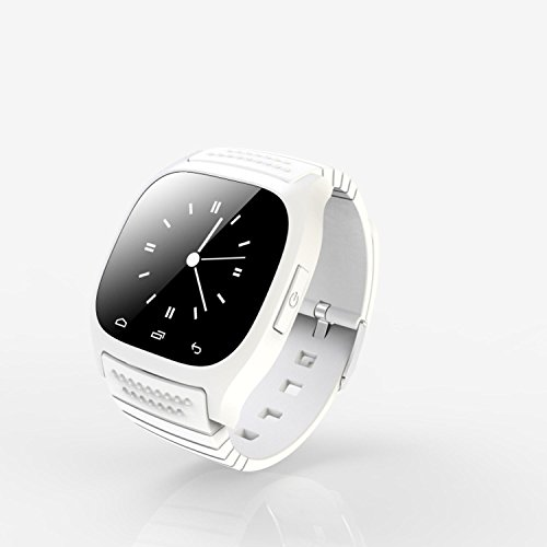 RWATCH M26 Wearable Smartwatch,Media Control/Hands-Free Calls/Pedometer/Anti-lost for Android/iOS iPhone White