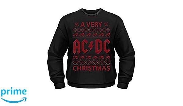 AC/DC - una Muy ACDC Navidad - Oficial Sudadera para Hombre (Jersey) - Negro, Small: Amazon.es: Ropa y accesorios