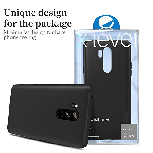 X-level LG G7 ThinQ Case, Mobile Phone Case [Guardian Series] Soft TPU Matte Finish Slim Fit Ultra Thin Light Protective Cell Phone Back Cover for LG G7 ThinQ (Black)