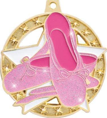 Crown Awards 2 Glitter Ballet Medal Shimmer Glitter Award Medals Great Glitter Ballet Gold Medals for Ballet Dancers