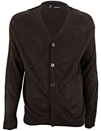 Mens Marled Button Front Cardigan Sweater