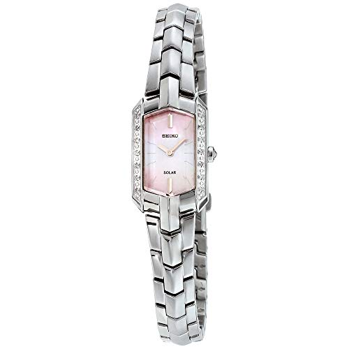 (Seiko Women's Japanese-Quartz Watch with Stainless-Steel Strap, Silver, 4 (Model: SUP329)