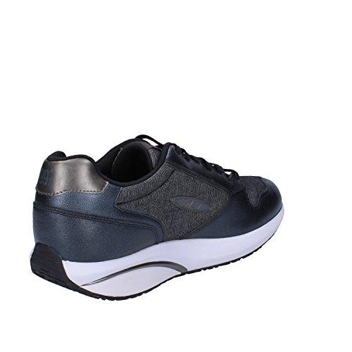MBT Sneakers Hombre Cuero Textil (42 EU, Gris oscuro)