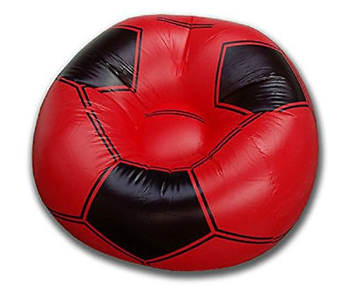Air Bean Bag Gaming Inflatable Blow Up Chairs Camping Game Kids Beanbag Football (Red) Balloon