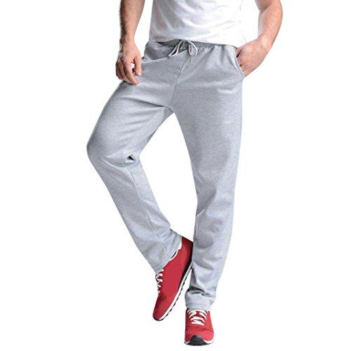 Price comparison product image AMSKY Men Trouser,  Sports Gym Workout Pants Hip Hop Jogging Tracksuit Fitness Sweatpants Jogger Pants (4XL,  Gray)