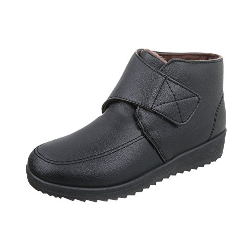 Women's Boots Flat Classic Ankle Boots at Ital-Design Black