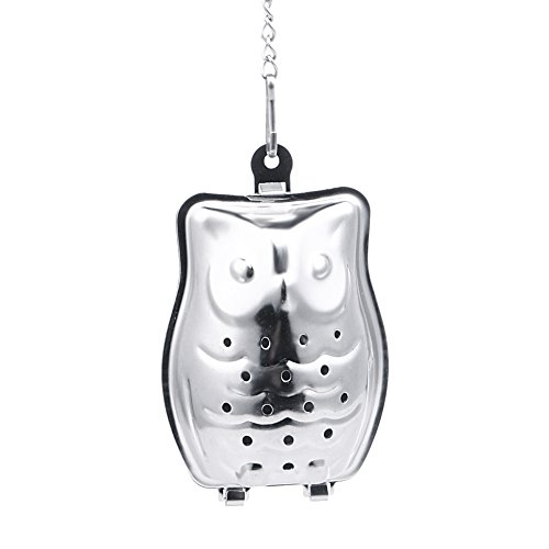 Funnytoday365 Creative Stainless Steel Owl Shaped Tea Strainer Herbal Spice Infuser Loose Leaf Infuser Tea Filter Herbal Spice Strainer by FunnyToday365 (Image #5)