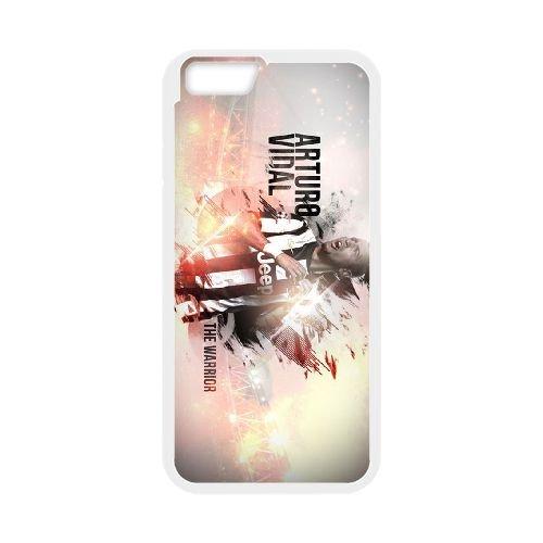 Arturo Vidal coque iPhone 6 4.7 Inch Housse Blanc téléphone portable couverture de cas coque EBDOBCKCO17662