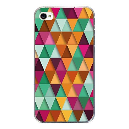 "Disagu Design Case Schutzhülle für Apple iPhone 4s Hülle Cover - Motiv ""Bunte Dreiecke 3"""