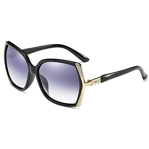 Morpho Diana Women's Fashion Fashion Wayfarer Sunglasses 100% Polarized UV Protection (black, - Sunglasses Off 70