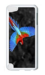 Ipod 5 Case,MOKSHOP Cool Colored Ara Bird Hard Case Protective Shell Cell Phone Cover For Ipod 5 - PC White