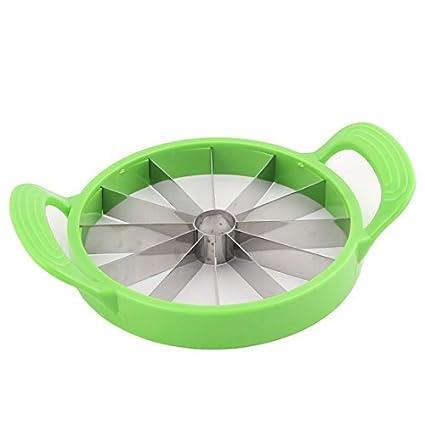 eDealMax plástico del hogar del marco de forma redonda con manijas sandía Hamimelon máquina de cortar