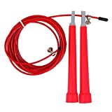 Steel Wire Skipping - SODIAL(R)Steel Wire Skipping Adjustable Jump Rope Crossfit Fitnesss Equipment£¨Red£©