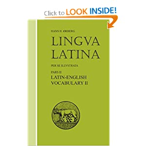 Lingua Latina: Pars II: Latin-English Vocabulary II (Pt. 11) (Latin Edition) Hans H. Orberg
