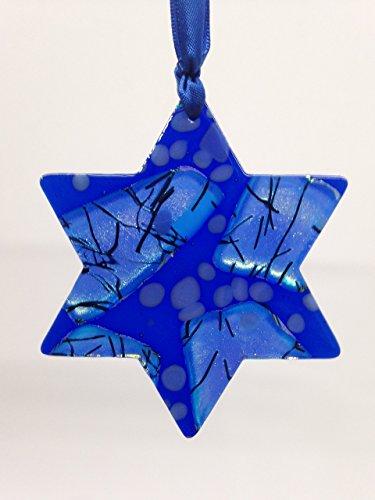 Happy Hanukkah Star (FRESH FROM THE KILN! Celebration Glass Ornament: Star Of David - Ships in Gift Box - Happy Hanukkah)