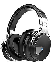 COWIN E7 Active Noise Cancelling Kopfhörer Bluetooth-Kopfhörer mit Mikrofon Tiefe Bässe Drahtlose Kopfhörer über dem Ohr, Bequeme Eiweiß-Ohrpolster, 30 Std. Spielzeit für Reise-Work-TV PC