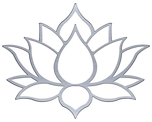 Master Cut Lotus Metal Wall Art for Home Decor- Wall Art - Easy to Hang - Stainless Steel Art - Abstract Wall Art - Size - 30