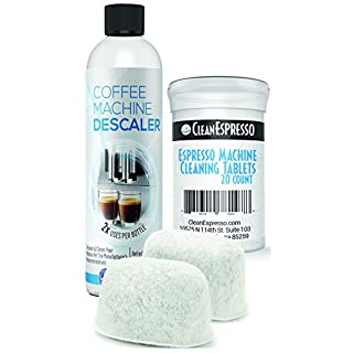 Breville Espresso Cleaning Kit - 20 Espresso Machine Cleaning Tablets + 2 Water Filters + 2-Use Descaling Solution - Fits All Breville Espresso Maker Models - by CleanEspresso