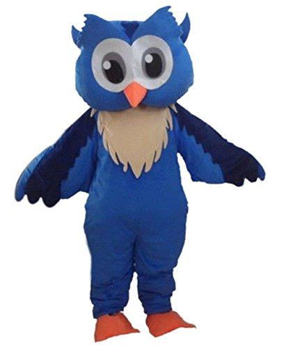 Blue Owl Mascot Costume Character Adult Sz Langteng Cartoon -