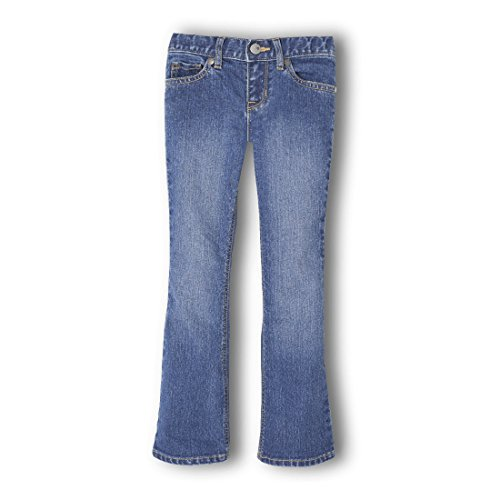 The Children's Place Girls' Big Bootcut Jeans, Medium Stone 24533, 16 by The Children's Place