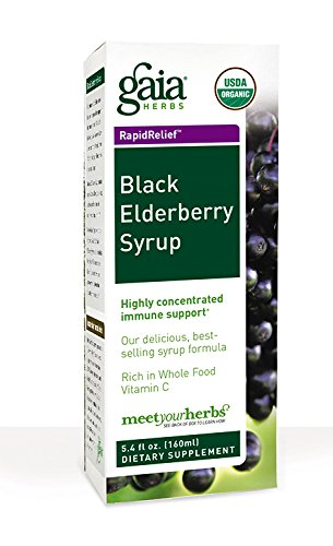 Gaia Herbs Black Elderberry Syrup, 5.4 Ounce