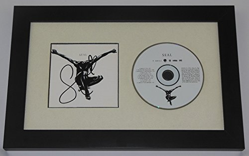 Seal Henry Samuel Self-Titled Kiss From A Rose Authentic Signed Autographed Music Cd Cover Custom Framed Display Loa (Seal Keepsake)