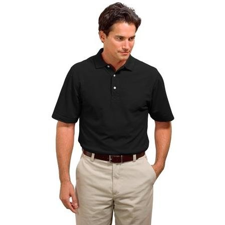 Port Authority Signature - Rapid Dry Polo Sport Shirt. K455 - Large - Jet Black