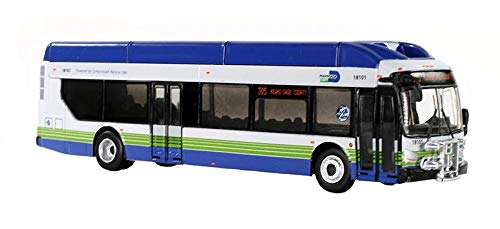 New Flyer Xcelsior CNG Transit Bus 305 Miami-Dade County 1/87 Diecast Model by Iconic Replicas 87-0134 by Iconic Replicas (Image #2)