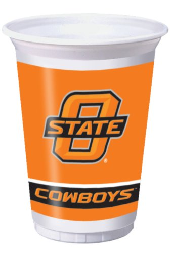 8-Count 20-Ounce Printed Plastic Cups, Oklahoma State Cowboys