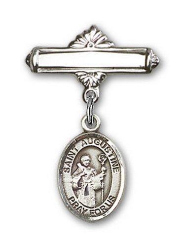 Icecarats Créatrice De Bijoux En Argent Sterling St. Broche De Badge Charme Augustine 1 X 5/8