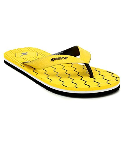b13a1e11190b09 Sparx Men s Flip-Flops and House Slippers (SFG-2023-Yellow)  Buy ...