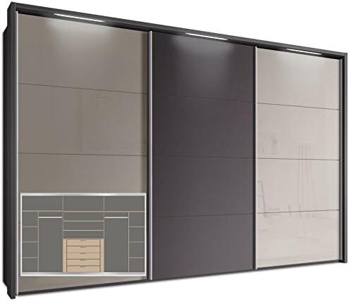 Webesto Armario de Puertas correderas, Aprox. 340 cm, Incluye paspartú con 3 x LED Stripes & Equipamiento Completo, Armario: Amazon.es: Juguetes y juegos
