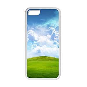 XiFu*MeiWelcome!iphone 5/5s Cases-Brand New Design Beautiful Sky Cloud Grass Scenery Printed High Quality TPU For iphone 5/5s 4 Inch -03XiFu*Mei