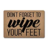 SimplismLife Entrance Floor Mat Funny Doormat Don't Forget to Wipe Your Feet Monogram Doormats Funny Door Mat Machine Washable Rug 30(L) x 18(W) inch