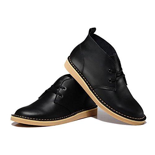 ICEGREY Herren Desert Boots Kurzschaft Stiefel & Stiefeletten Schwarz EU 43