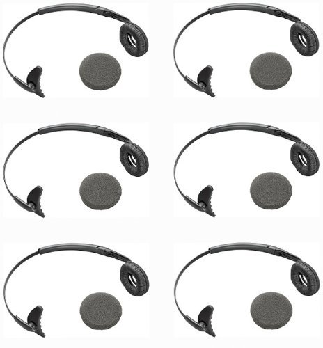 Plantronics (66735-01-) 6-Pack Uniband Headband with Leatherette Ear Cushion For Wireless Headsets
