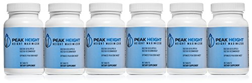 1 Grow Taller Height Pill Supplement-Peak Height 6 Month Supply-Height Supplement-Doctor Recommended, 90 tablets( pack of 6) (Best Height Increase Supplement)