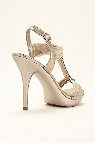 e8d76d32e0a2e Crystal T-Strap High Heel Sandal by Blossom Style BELIZE12, Nude ...