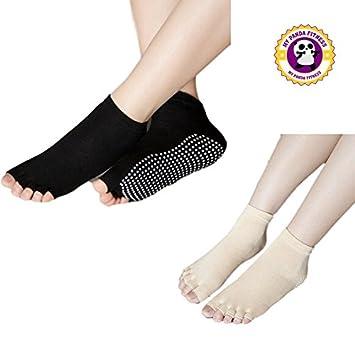 MY PANDA FITNESS Calcetines de Yoga-pilates * * * - Lote de 3 pares * * * Video Pilates en regalo: Amazon.es: Deportes y aire libre