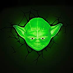 Star Wars Yoda 3D LED Wall Light