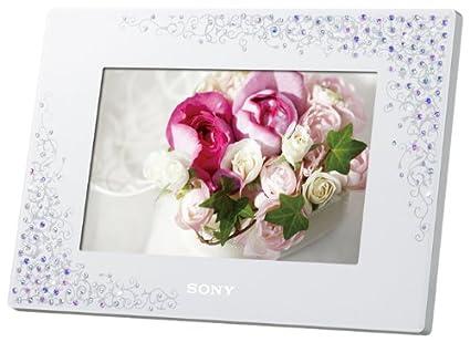 Amazoncom Sony Digital Photo Frame Crystal White Dpf D720wi