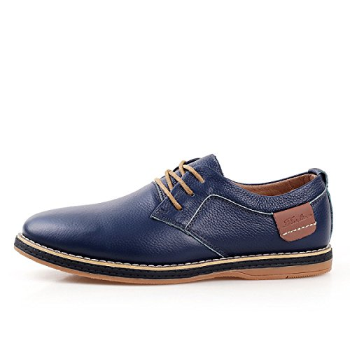 Herbst Und Winter Plus Kaschmir Warm Leder Freizeitschuhe Herrenschuhe Britische Lederschuhe Businessschuhe Blue