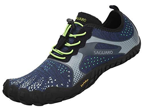 SAGUARO Barefoot Minimalistische Trailrunning Schoenen Heren Dames Lichtgewicht Sportschoenen voor Sportschool Fitness…