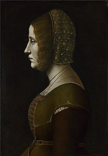 'Giovanni Ambrogio De Predis Profile Portrait Of A Lady ' Oil Painting, 20 X 29 Inch / 51 X 73 Cm ,printed On Polyster Canvas ,this Replica Art DecorativeCanvas Prints Is Perfectly Suitalbe For Laundry Room Artwork And Home Gallery Art And Gifts