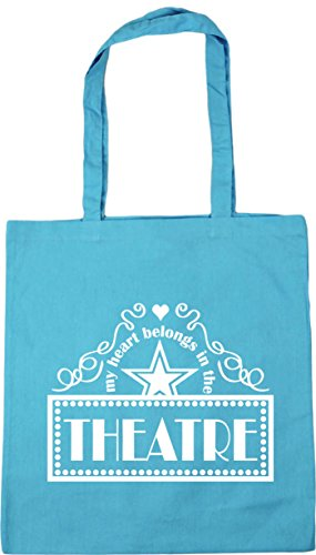 Theatre the x38cm Surf litres 42cm Bag Gym Shopping Tote Heart HippoWarehouse Belongs My Beach 10 Blue In IXqU7wnZgx